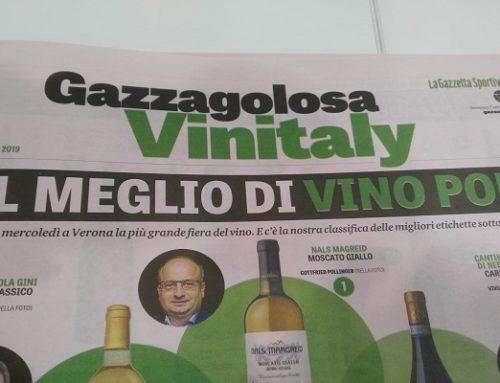 """Il """"Volvito 2016"""" ancora protagonista nei Top 50 Vini d'Italia della Gazzetta dello Sport"""