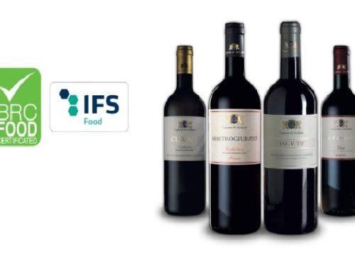 """Certificazione """"BRC e IFS"""": I nostri vini prodotti secondo i rigidissimi standard mondiali di riferimento in tema di igiene e sicurezza alimentare"""